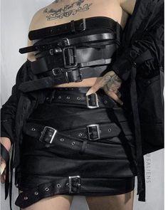 Egirl Fashion, Dark Fashion, Grunge Fashion, Gothic Fashion, Fashion Outfits, Gothic Outfits, Edgy Outfits, Grunge Outfits, Cool Outfits