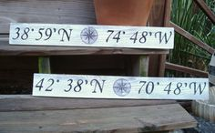 Latitude and Longitude coordinates...very cool idea for the new house!