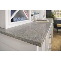 Grey Quartz, love this with my color scheme. Silestone 4 in. x 2 in. Quartz Countertop Sample in Riverbed-SS-Q120 - The Home Depot