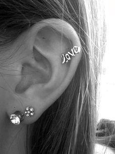 heart stud helix earring - Google Search