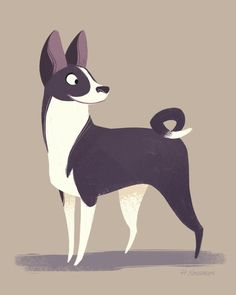 Basenji by heddarsketch on Etsy