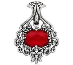 Carolyn Pollack Red Coral Doublet Sterling Enhancer