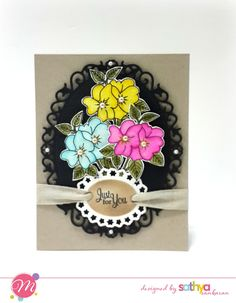 Just for you card, using Mudra stamps