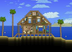 The ultimate #Terraria beach house!