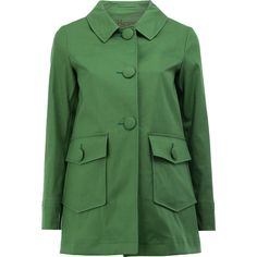 Herno flap pockets coat ($710) ❤ liked on Polyvore featuring outerwear, coats, green, herno, herno coats and green coat