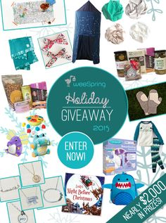 You could win almost $2,000 in holiday gifts for the whole family in weeSpring's Holiday Gift Guide Giveaway!