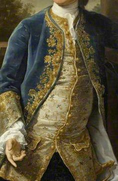 Embroidered Paunch! George Lucy (1714–1786), 1758,  by Pompeo Batoni. National Trust
