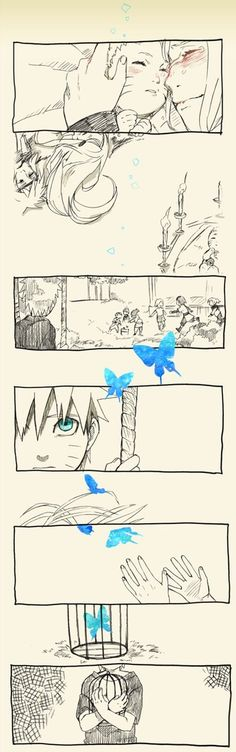 This is so sad. The butterfly is supposed to represent the memory of his parents, right?