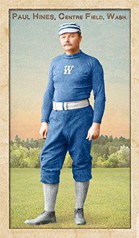 Paul Hines, Washington Nationals, 1888. Art by Ars Longa Art Cards.