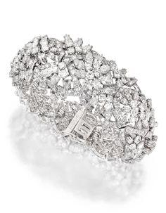 Platinum and Diamond Bracelet, David Webb - Sotheby's