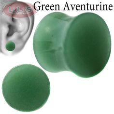 Green Aventurine Organic Stone Plug