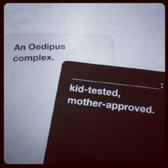 There will never be a better Cards Against Humanity pairing ever.