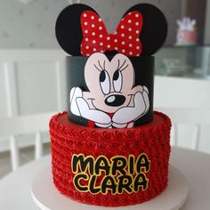 Torta Minnie Mouse, Minnie Mouse Cookies, Minnie Mouse Birthday Cakes, Mickey Cakes, Mickey Mouse Cake, Minnie Mouse Cake, Cool Birthday Cakes, Birthday Cake Girls, Buttercream Cake Designs