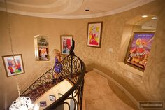 Holly Madison knows how to furnish a house disney style! - I LOVE Everything about Holly! I wish I knew her, she has the best heart. Disney Stairs, Design Your Home, House Design, Disney Rooms, Disney House, Holly Madison, Disney Time, Home Theater Rooms, Disney Home Decor