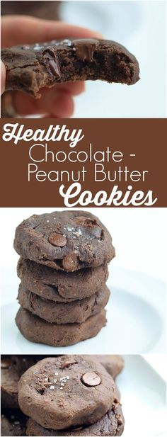 Black Bean Chocolate Peanut Butter Cookies. These healthy cookies are made with NO flour, NO oil, and NO refined sugar.  These are just incredible cookies that happen to be healthy.