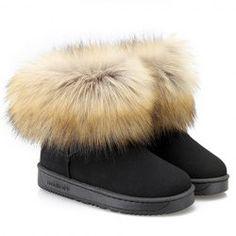 Faux Fur Design Snow Boots For Women $12.70