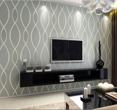 Luxury-Modern-Style-3D-Flocked-Textured-Waves-Striped-Silver-Grey-Wallpaper-Roll