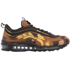 Nike Men Air Max 97 Camo Pack Italy Sneakers ($260) ❤ liked on Polyvore featuring men's fashion, men's shoes, men's sneakers, camouflage, mens lightweight running shoes, mens rubber sole shoes, mens shoes, nike mens shoes and mens sneakers