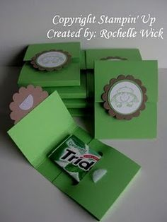 Gum holder template...this might be a simple thank you gift...would have to come up with a cheesy slogan to put on them!