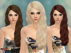 Hairstyle for Female, Teen through Elder.  Found in TSR Category 'Sims 4 Female Hairstyles'