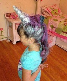 Crazy Hair Day Ideas - unicorn mane