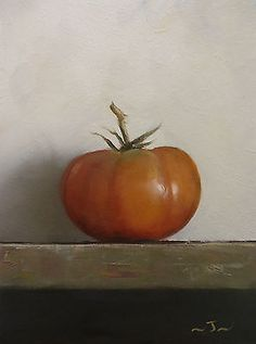 Original Oil Painting - Beef Tomato - Contemporary Still Life Art - Nelson