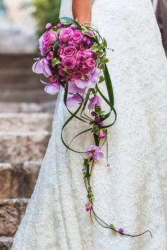 # Bridal bouquet The waterfall Bridal bouquet and many more . - # Bridal bouquet You can find the waterfall bridal bouquet and many other examples - Purple Wedding, Floral Wedding, Dream Wedding, Cascade Bouquet, Pink Bouquet, Bridal Flowers, Flower Bouquet Wedding, Bride Bouquets, Floral Arrangements