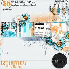 Lolly Bag - PU {by Chunlin designs} 12th Birthday, Birthday Celebration, Happy Birthday, Lolly Bags, Digital Scrapbooking, Design, Happy Brithday, Urari La Multi Ani