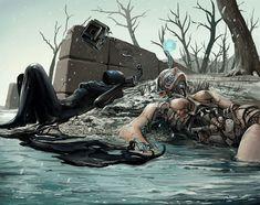 Basé à Vancouver au Canada, Michael MacRae est un artiste talentueux qui réalise des illustrations surnaturelles. Son imagination donne vie à une série sombre d'univers et de créatures aussiétranges qu'inquiétantes. SooCurious vous inv...