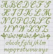 punto croce alfabeti