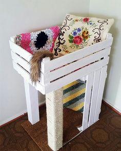 DIY High Sleeper cat bed