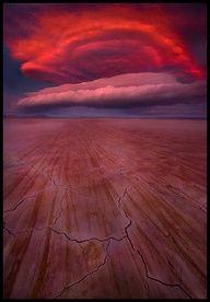Dramatic sunset, Alvord desert, Oregon - US