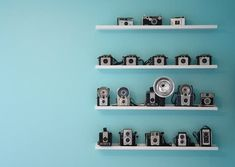 Simple way to display my camera collection...