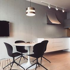 #interiordesign by #studioe_design_arch #kitchen #dinningroom #minimalism #minimalisticinterior @boconcept_official #bratislava #eurovea
