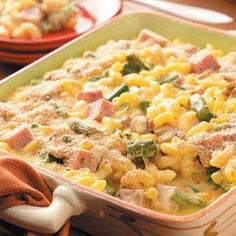 AMAZING cheesy Macaroni & Cheese with Ham and Asparagus-Taste of Home Favorite :)   Posted for my YCP ladies!
