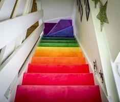 Home Depot Carpet Runners Vinyl Hallway Carpet Runners, Cheap Carpet Runners, Wall Carpet, Carpet Stairs, Fur Carpet, Basement Carpet, Plush Carpet, Rainbow Bedroom, Rainbow House