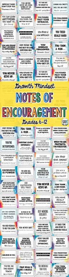 Encouraging phrases for students