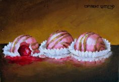 Cherry Chocolates painting chic hp shabby pink candy by 4WitsEnd, $60.00