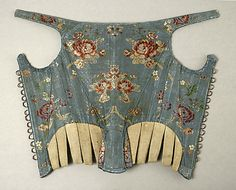 Corset Date: 18th century Culture: American or European Medium: silk Dimensions: [no dimensions available] Credit Line: Gift of Mr. Lee Simonson, 1939