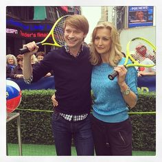 Why am I playing tennis with @CalumWorthy in Times Square? You'll find out soon on @Taylor Griffin ! #TryIt