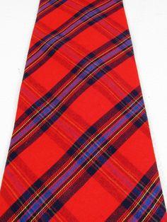 SPENCER & LOWE Red Plain & Checks Theme Necktie Tie #SpencerLowe #Tie