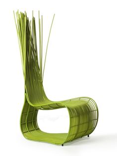 green chair by Kenneth Cobonpue (via Christopher William Adach blog)
