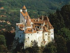 "Bran Castle, nicknamed ""Dracula's Castle,"" located near Bran and in the immediate vicinity of Brasov, Romania is not for sale. Recently UK tabloid The Telegraph ran five paragraphs telling people t… Beautiful Castles, Beautiful Places, Draculas Castle Romania, Bran Castle Romania, Romanian Castles, Places Around The World, Around The Worlds, Dracula Castle, Transylvania Romania"