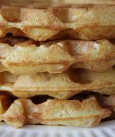 Bad photography- I think waffles should be photographed from a top view, or at an angle, while pancakes look better photographed from the side. The texture of the waffles is perfect, the focus is right, but I think we're zoomed in a little too close here. Breakfast Waffles, What's For Breakfast, Breakfast Items, Perfect Breakfast, Pancakes And Waffles, Brunch Recipes, Breakfast Recipes, Waffle Day, Bon Appetit