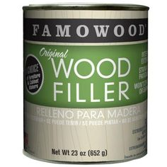 FAMOWOOD Original Wood Filler has been the choice of professional woodworkers for over 70 years. It doesn't matter whether you are masking small or large defects, FAMOWOOD can handle the job. Perfect for any type of custom wood project. Woodworking Kitchen Cabinets, Unfinished Furniture, Wood Interiors, Wood Dust, Red Oak, Arts And Crafts Supplies, Wood Veneer, Custom Wood, Real Wood