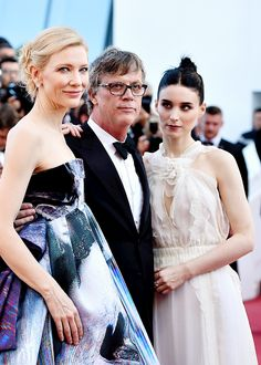 Cate Blanchett, Todd Haynes, and Rooney Mara attend the 'Carol' Premiere during the 68th annual Cannes Film Festival on May 17, 2015 in Cannes, France