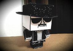 """Breaking Bad - Heisenberg Sketch Paper Toy - by DSGustus  ==   DSGustus, designer of this cool paper toy, says: - """"This is a Cubeecraft based on the crappy sketch that Marco and Leonel Salamanca drew of Heisenberg. The image has become symbolic of both Heisenberg's character as well as the Breaking Bad series, so it's only fitting that it has made it's way onto a polygonal papercraft figure. Say my name!"""""""