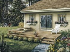 small backyard decks & patios - Google Search