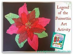 Art Activity for the Legend of the Poinsettia | Hip Homescholl Moms