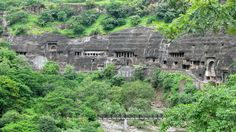 AJANTA CAVES in India (ancient site, dates to the 2nd century BC, contains sculptures and paintings that are said to be masterpieces, one of the most popular religious destinations for Buddhists, previously used by monks as prayer halls and monasteries)